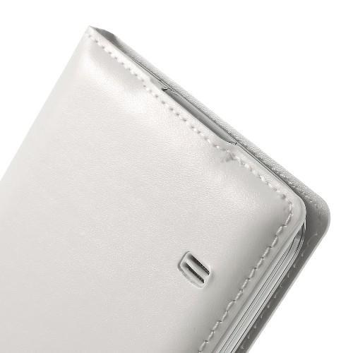 Чехол книжка для Samsung Galaxy S5 с функцией окна белый