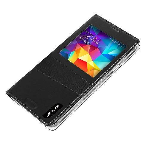 Флип чехол для Samsung Galaxy S5 USAMS Window View цвет Black