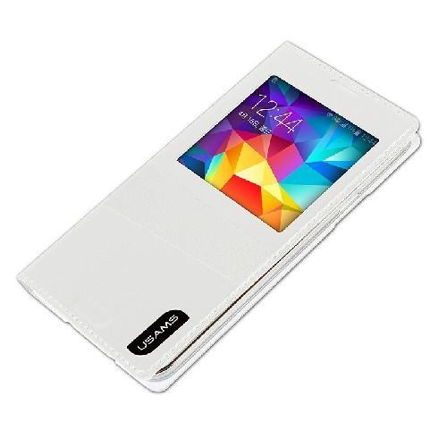 Флип чехол для Samsung Galaxy S5 USAMS Window View цвет White