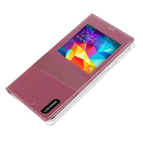 Флип чехол для Samsung Galaxy S5 USAMS Window View цвет Pink