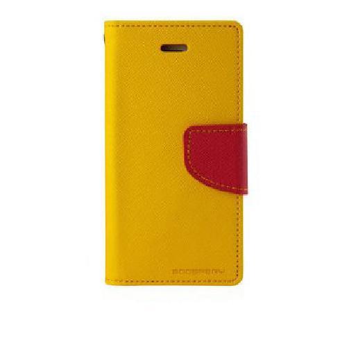 Чехол книжка для Samsung Galaxy S5 Goospery желтый и розовый