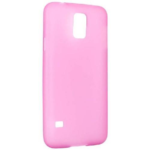 Ультратонкий пластиковый чехол для Samsung Galaxy S5 розовый