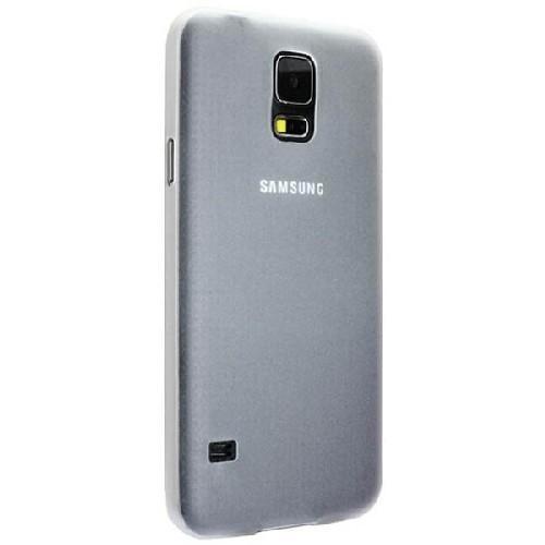 Ультратонкий пластиковый чехол для Samsung Galaxy S5 белый