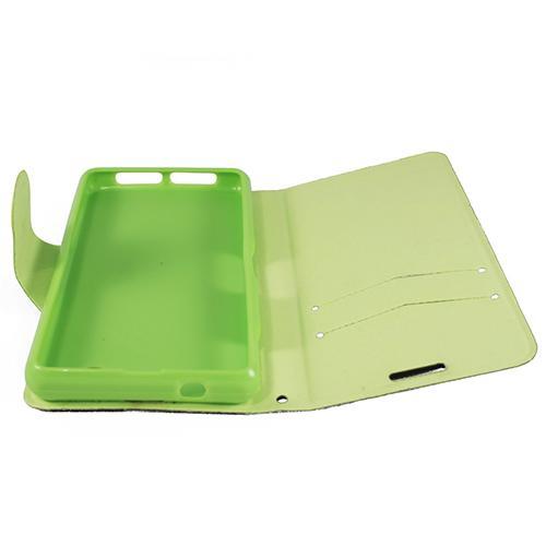 Чехол книжка для Sony Xperia Z1 Compact Black/Green Dimanche