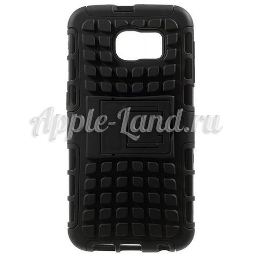 Гибридный противоударный чехол для Samsung Galaxy S6 - черный