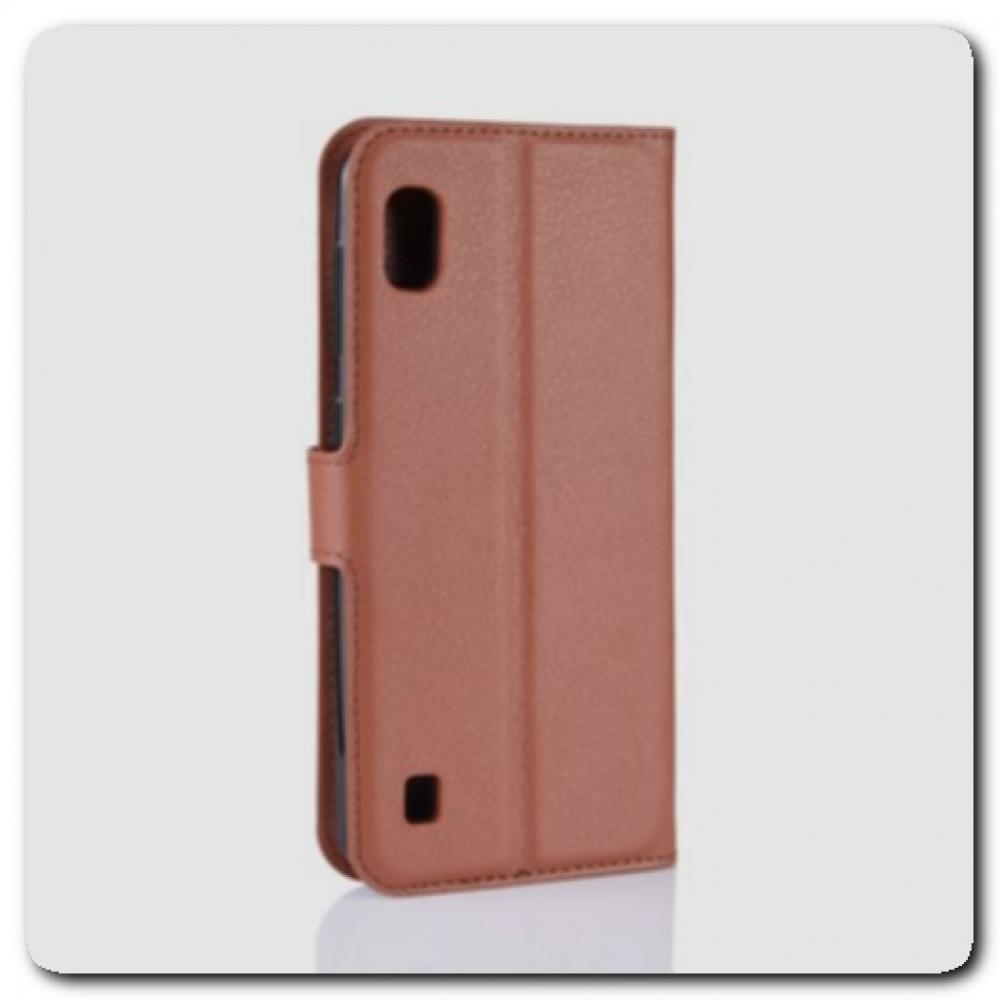 Чехол Книжка Book Wallet с Визитницей и Кошельком для Samsung Galaxy A10 Коричневый