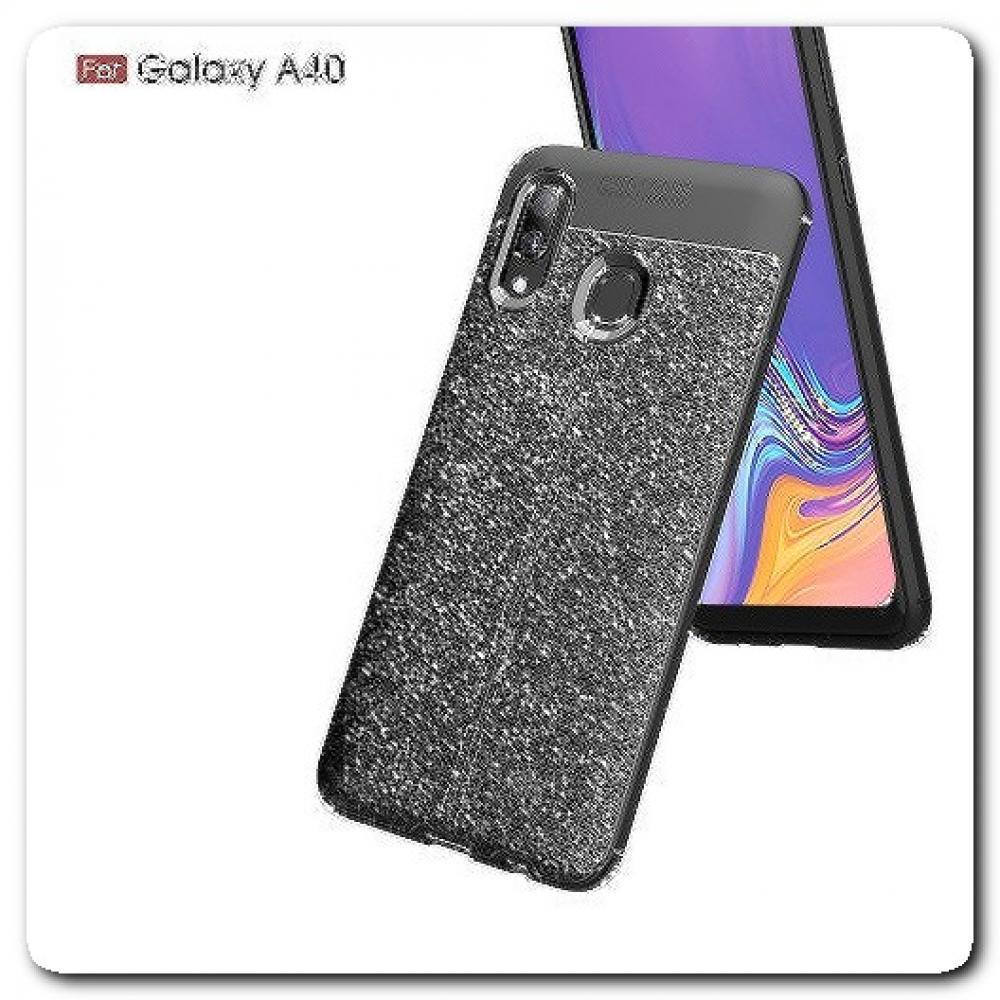Чехол Книжка Book Wallet с Визитницей и Кошельком для Samsung Galaxy A40 Черный