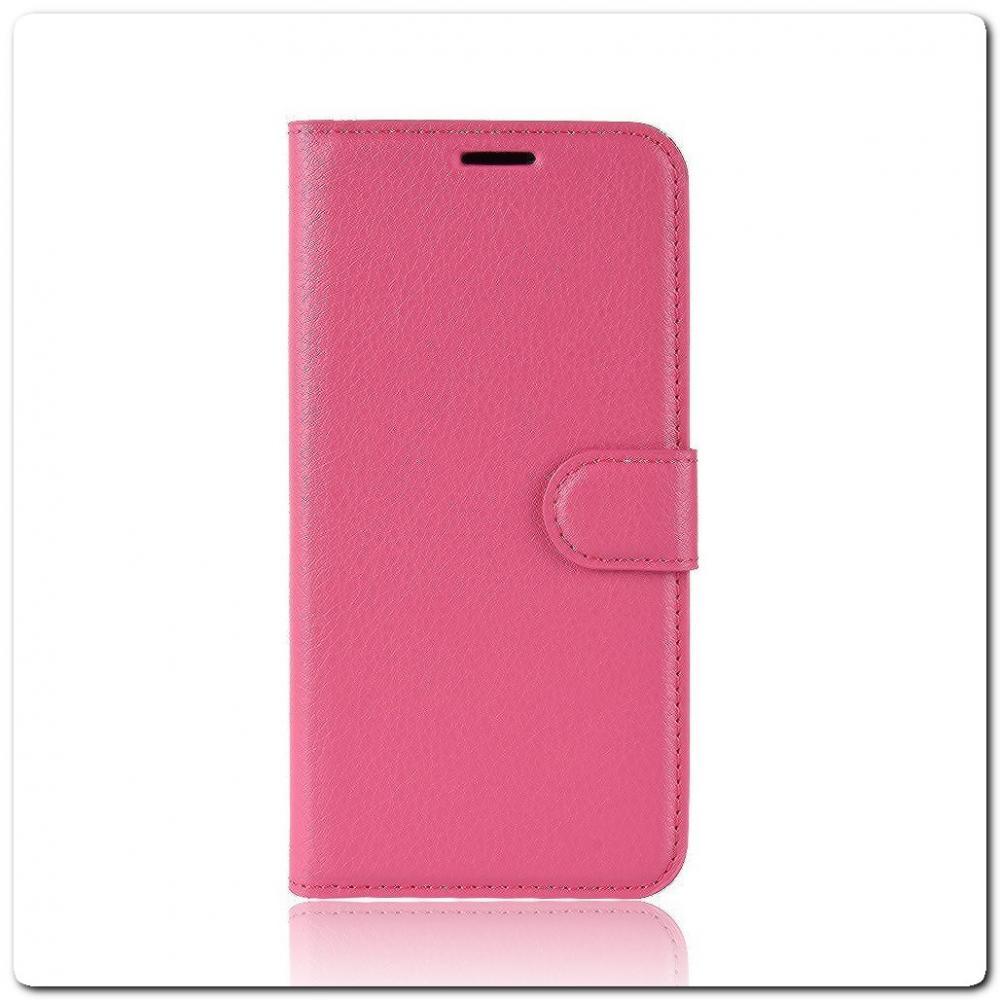 Чехол Книжка Book Wallet с Визитницей и Кошельком для Samsung Galaxy A40 Ярко-Розовый