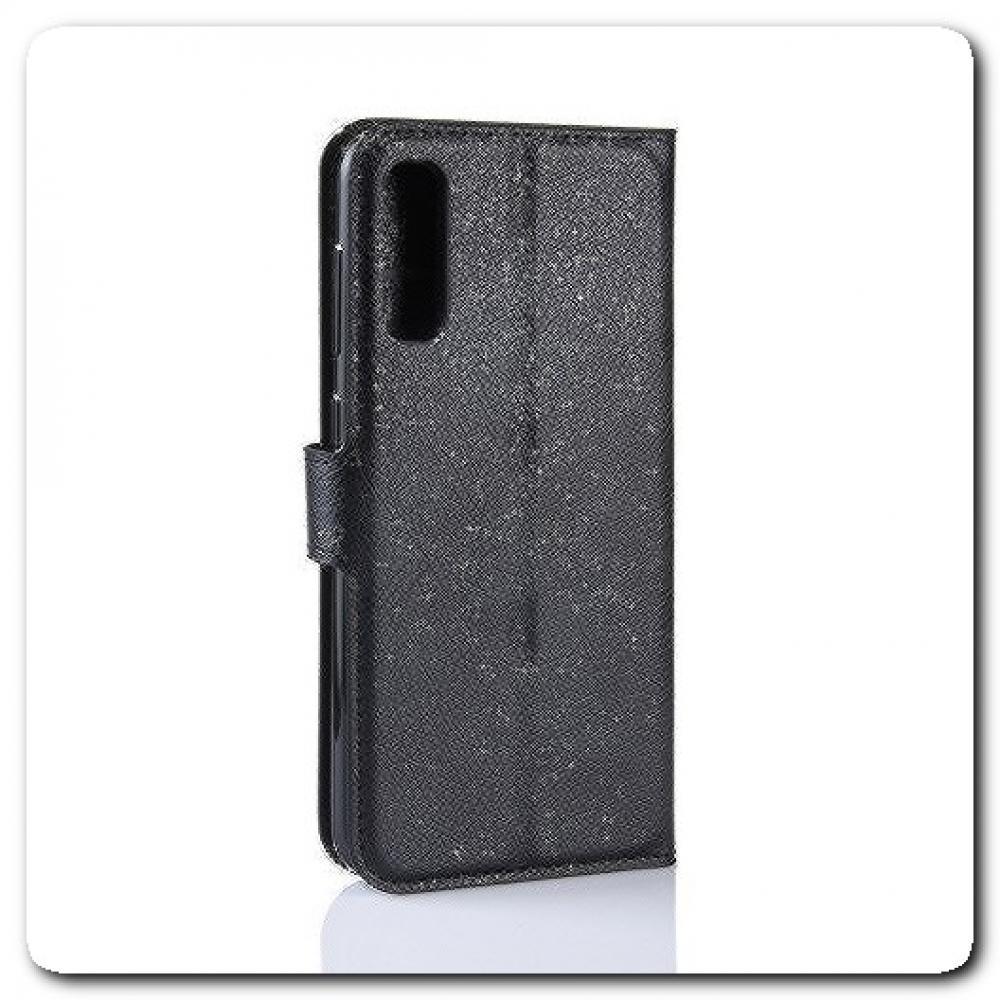 Чехол Книжка Book Wallet с Визитницей и Кошельком для Samsung Galaxy A50 Черный