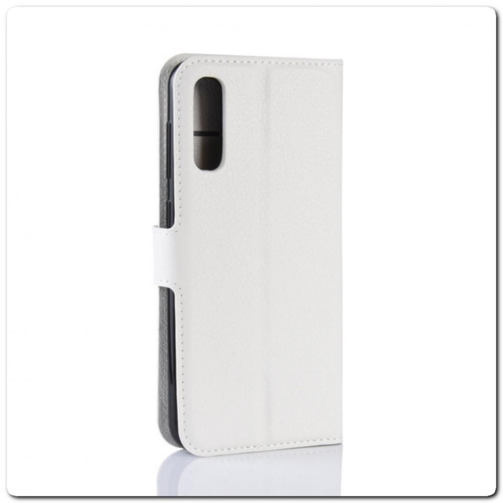 Чехол Книжка Book Wallet с Визитницей и Кошельком для Samsung Galaxy A70 Белый