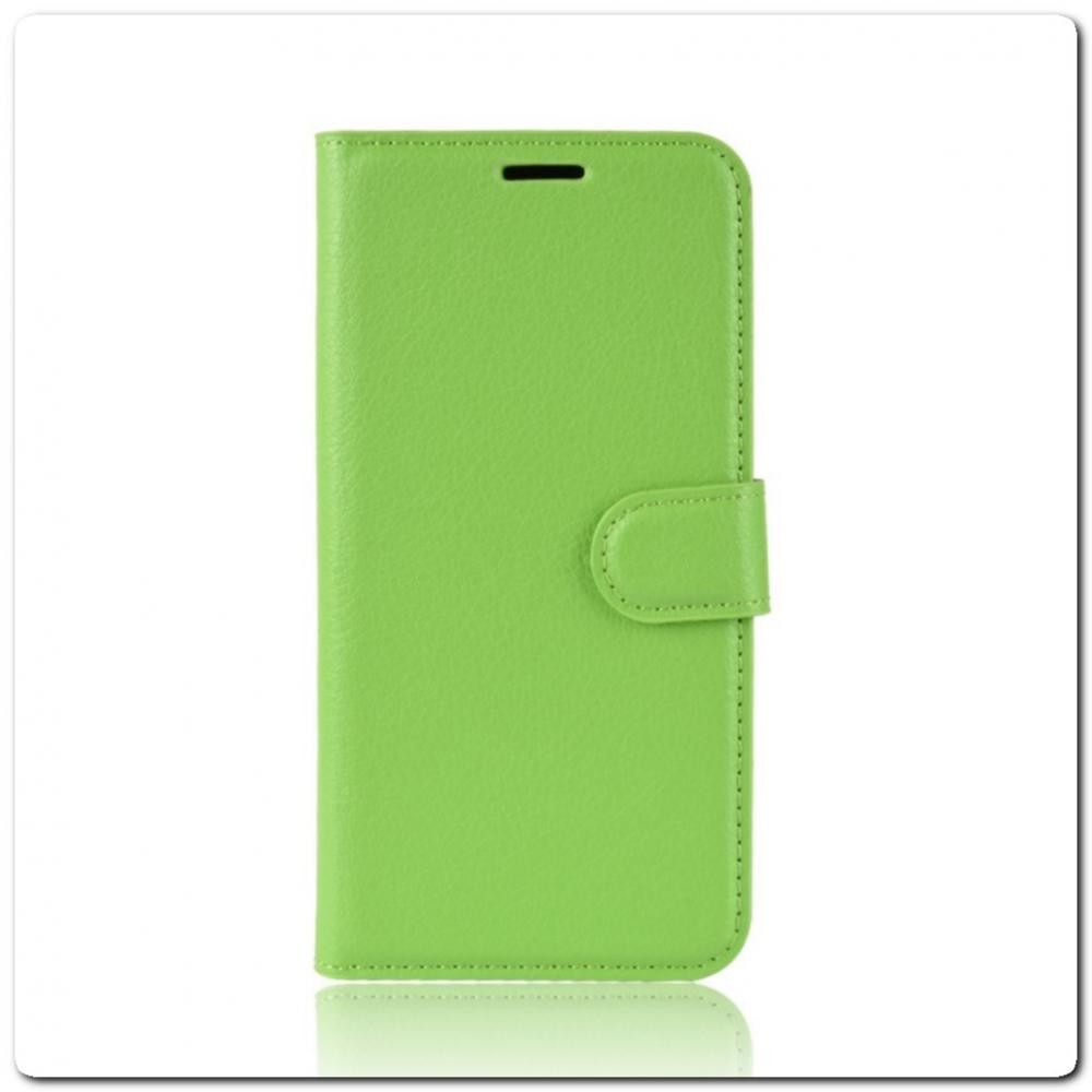 Чехол Книжка Book Wallet с Визитницей и Кошельком для Samsung Galaxy A70 Зеленый