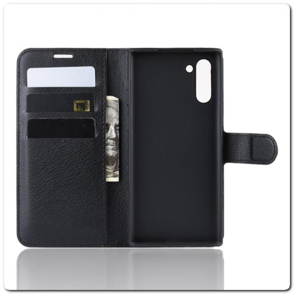 Чехол Книжка Book Wallet с Визитницей и Кошельком для Samsung Galaxy Note 10 Черный