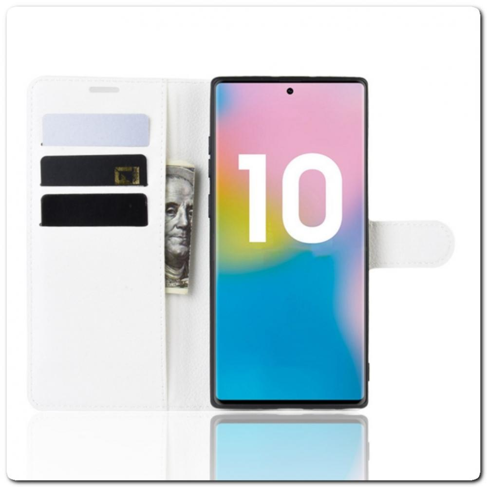 Чехол Книжка Book Wallet с Визитницей и Кошельком для Samsung Galaxy Note 10+ / Note 10 Plus Белый
