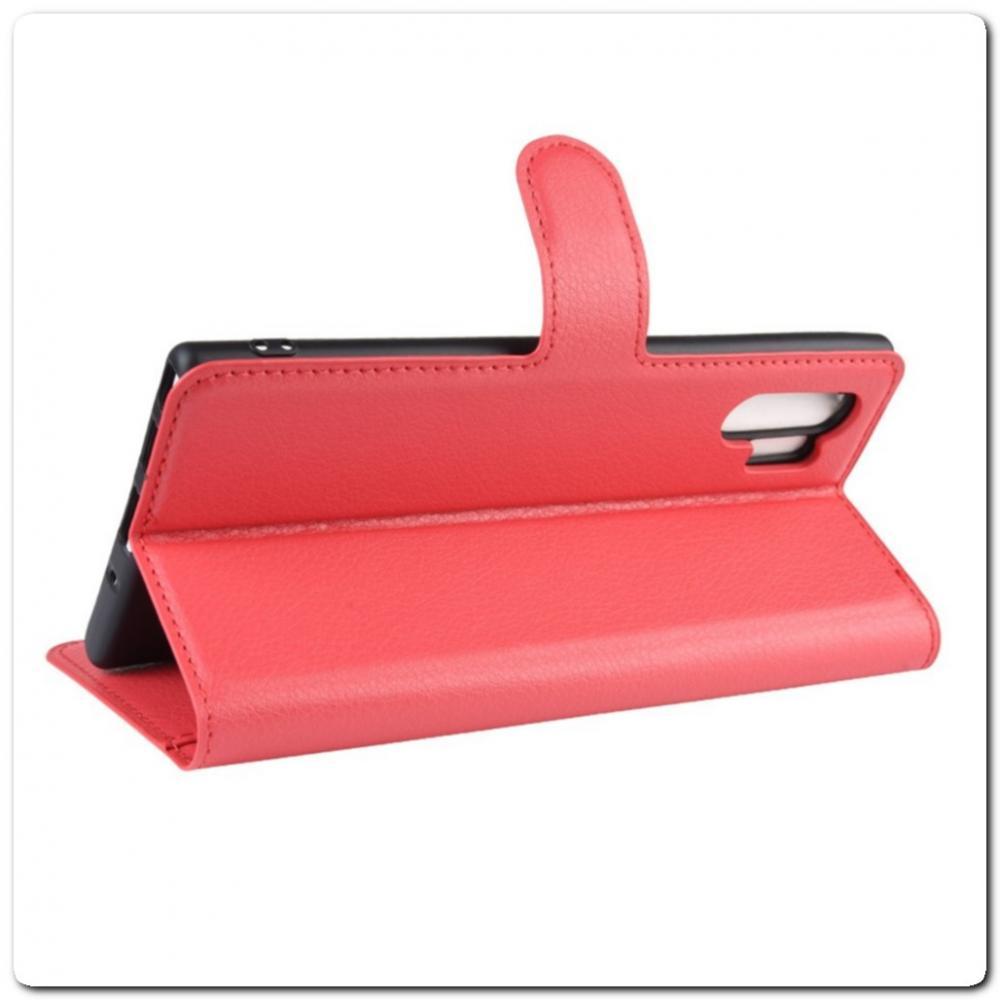 Чехол Книжка Book Wallet с Визитницей и Кошельком для Samsung Galaxy Note 10+ / Note 10 Plus Красный