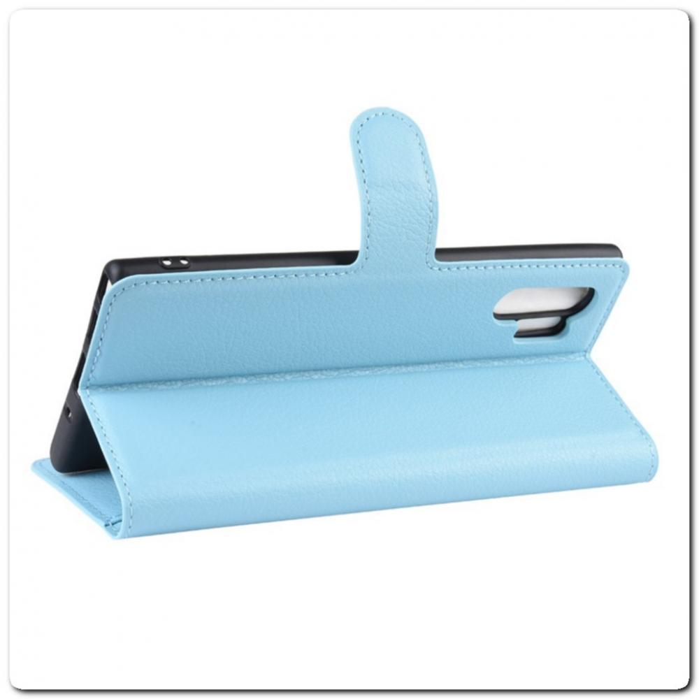Чехол Книжка Book Wallet с Визитницей и Кошельком для Samsung Galaxy Note 10+ / Note 10 Plus Синий