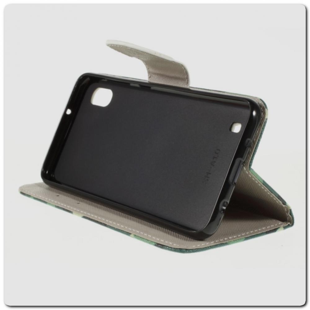 Чехол Книжка Color Wallet с Магнитным Язычком для Samsung Galaxy A10 с Рисунком Камуфляж