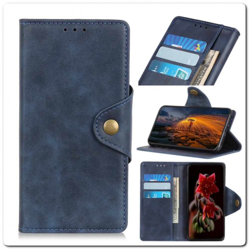Чехол Книжка Flip Wallet с Отделениями для Карт на Samsung Galaxy A70 Синий