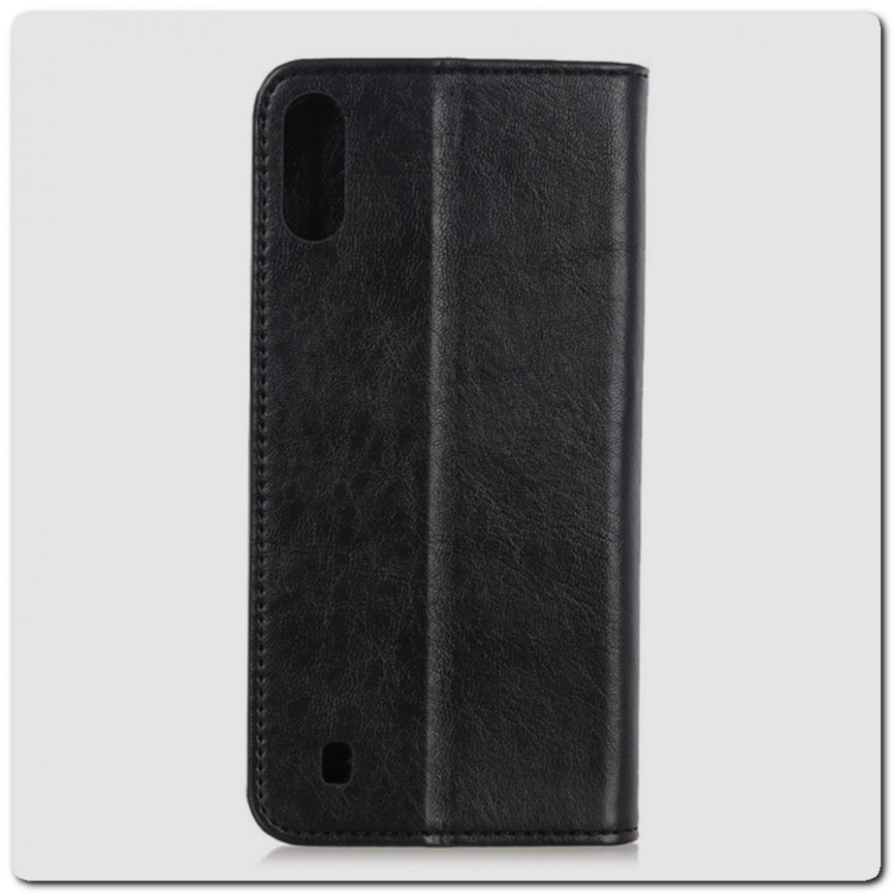 Чехол Книжка с Скрытыми Магнитами Авто Закрытие для Samsung Galaxy A10 Черный