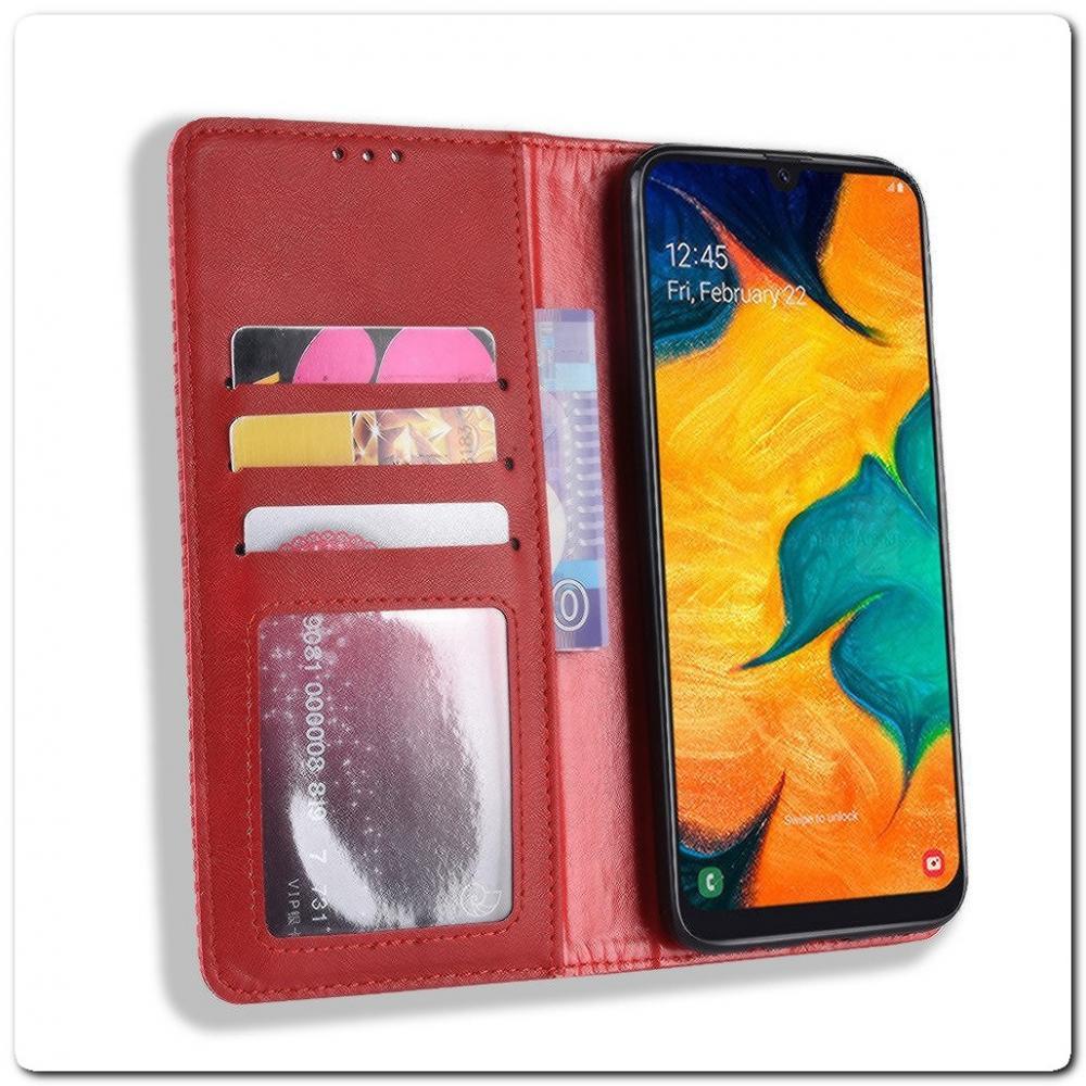 Чехол Книжка с Скрытыми Магнитами Авто Закрытие для Samsung Galaxy A40 Красный