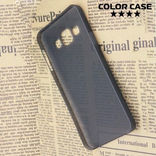 Ультратонкий пластиковый чехол для Samsung Galaxy A3 чёрный