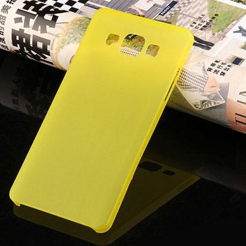 Ультратонкий пластиковый чехол для Samsung Galaxy J7 желтый