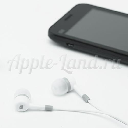 Наушники гарнитура Xiaomi MI с микрофоном белые