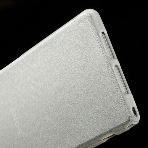 Силиконовый чехол для Sony Xperia Z1 белый Shine