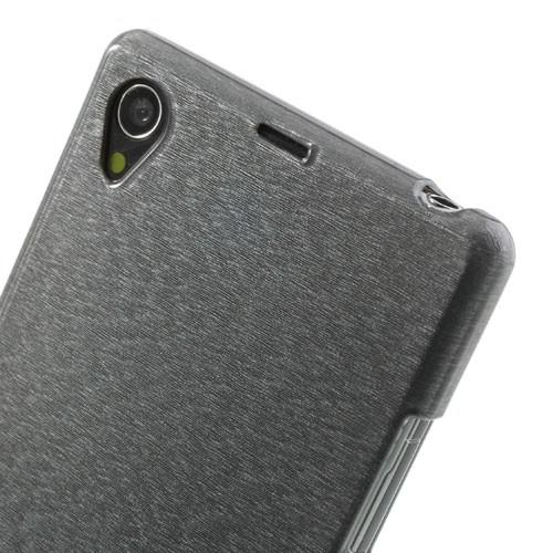 Силиконовый чехол для Sony Xperia Z1 серый Shine