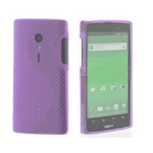 Силиконовый чехол для Sony Xperia Ion фиолетовый