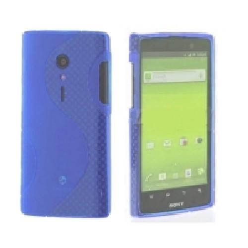 Силиконовый чехол для Sony Xperia Ion синий