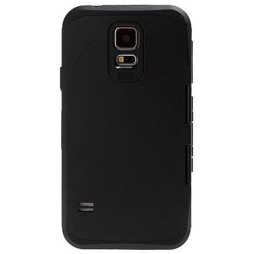 Противоударный тактический гибридный чехол S-View для Samsung Galaxy S5 чёрный