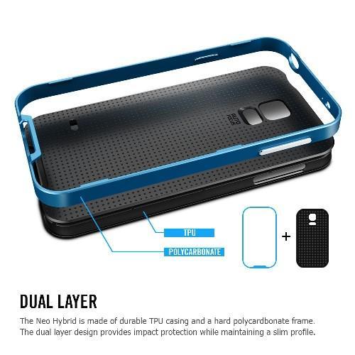 Противоударный гибридный чехол для Samsung Galaxy S5 Blue