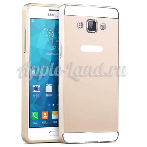 Металлический чехол для Samsung Galaxy A5 золотой
