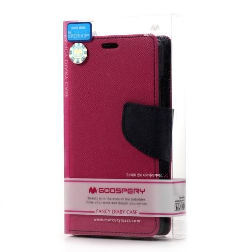 Flip чехол книжка для Sony Xperia SP розовый