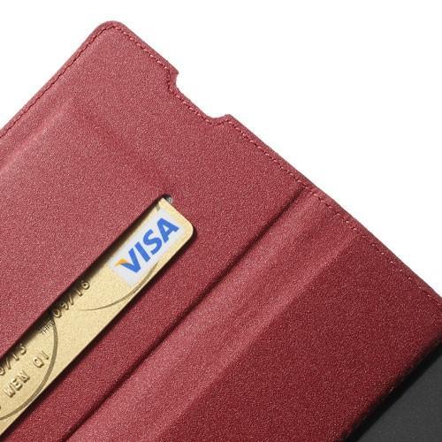 Чехол книжка флип для Sony Xperia Z1 красный MercuryCaseOn