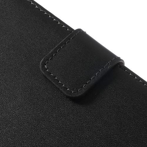 Чехол книжка для Sony Xperia Z1 Compact черный LitchiCase