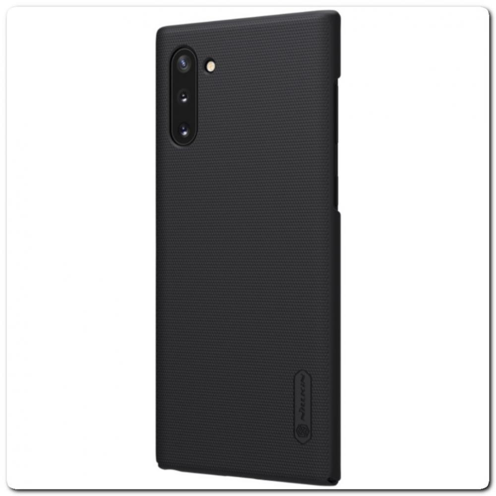 Пластиковый Кейс Nillkin Super Frosted Shield Чехол для Samsung Galaxy Note 10 Черный