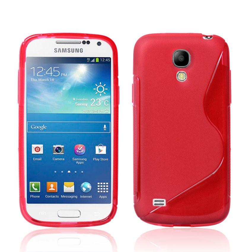 Силиконовый чехол для Samsung Galaxy S4 mini красный S-Shape