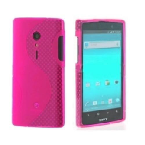 Силиконовый чехол для Sony Xperia Ion розовый