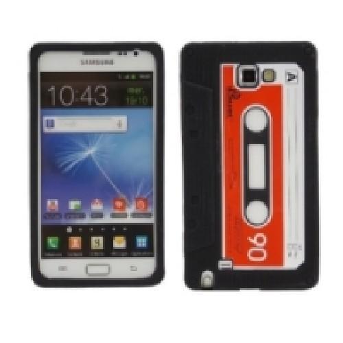 Силиконовый чехол-кассета для Samsung Galaxy Note черный