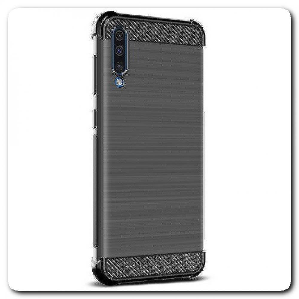 Силиконовый чехол IMAK Vega с Воздушными Подушками Безопасности для Samsung Galaxy A50 Черный