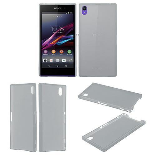 Ультратонкий кейс чехол для Sony Xperia Z1 серый