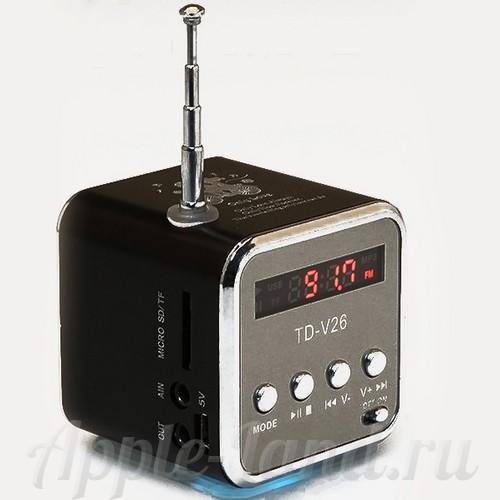 Колонки Динамики ТD-V26 черный HILP