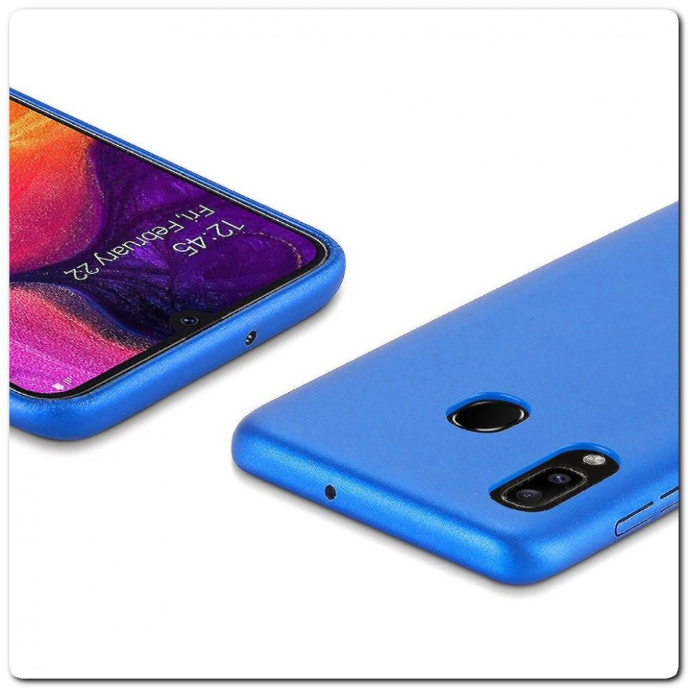 Тонкий Чехол Книжка DUX DUCIS из Гладкой Искусственной Кожи для Samsung Galaxy A30 / Galaxy A20 Синий