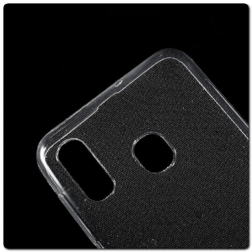 Тонкий TPU Силиконовый Бампер DF Чехол на Samsung Galaxy A30 / Galaxy A20 Прозрачный