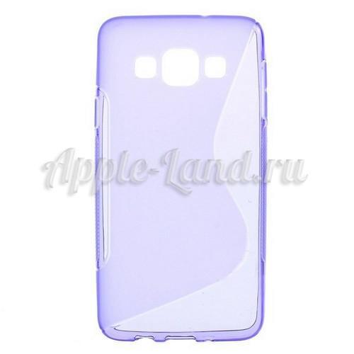 Силиконовый чехол для Samsung Galaxy A3 - фиолетовый ToughGuard