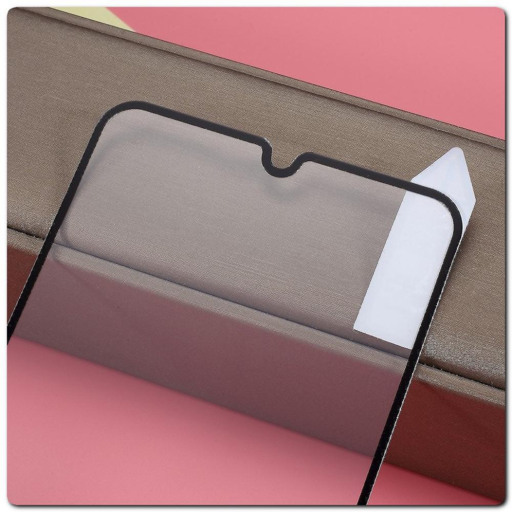 Закаленное Защитное Противоударное DF Стекло для Samsung Galaxy A30 / Galaxy A20 с Олеофобным Покрытием Черное
