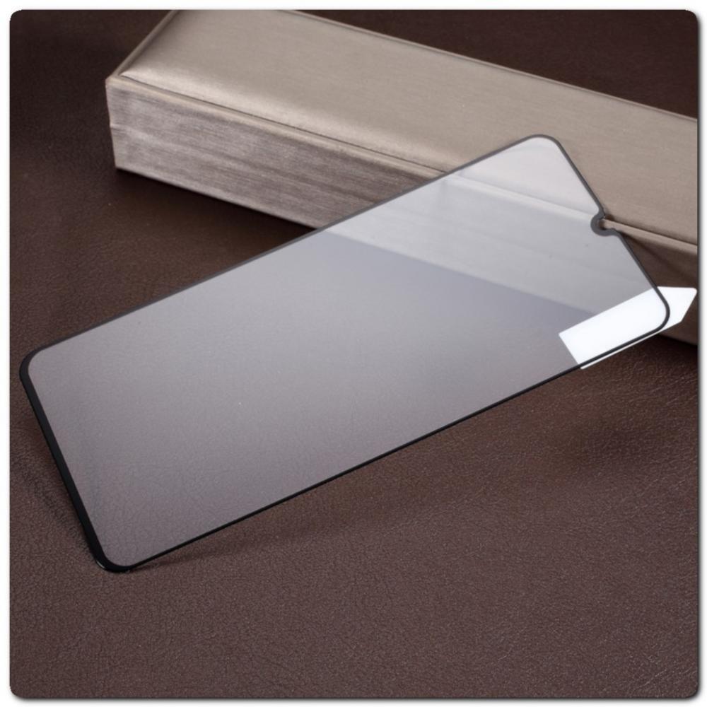 Закаленное Защитное Противоударное DF Стекло для Samsung Galaxy A70 с Олеофобным Покрытием Черное