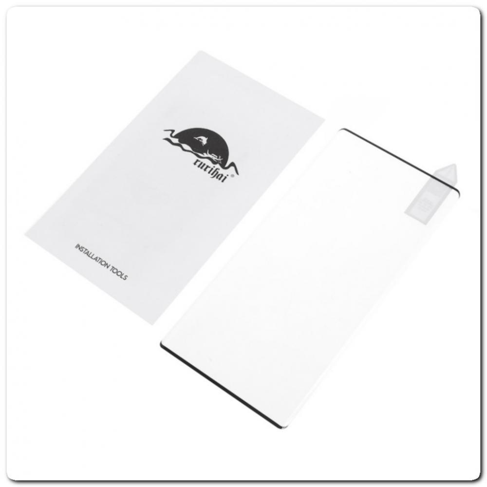 Закаленное Защитное Противоударное DF Стекло для Samsung Galaxy Note 10 с Олеофобным Покрытием Черное