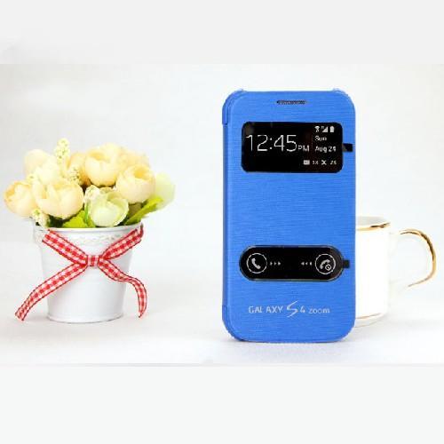 Флип чехол-книжка для Samsung Galaxy S4 Zoom синий